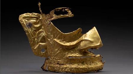 中国の「謎の文明」で黄金仮面見つかる 3000年前の遺跡から出土