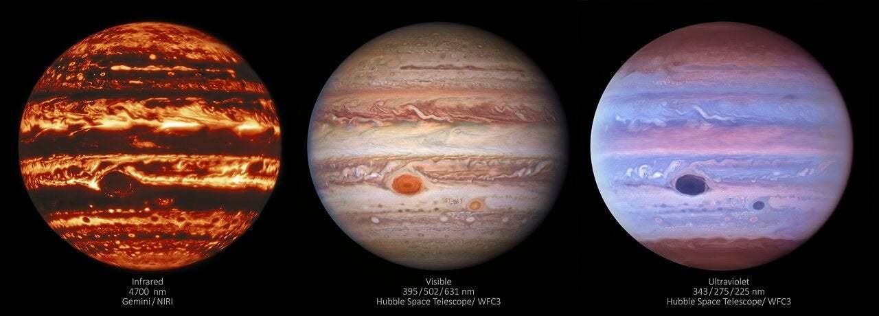 【天文】赤外線で見た木星が怖すぎる